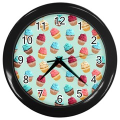 Cup Cakes Party Wall Clocks (black)