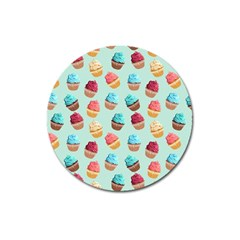 Cup Cakes Party Magnet 3  (round)