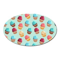 Cup Cakes Party Oval Magnet