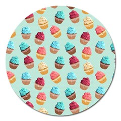 Cup Cakes Party Magnet 5  (round)