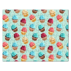 Cup Cakes Party Rectangular Jigsaw Puzzl