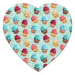 Cup Cakes Party Jigsaw Puzzle (Heart)