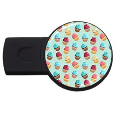 Cup Cakes Party Usb Flash Drive Round (4 Gb)