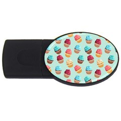 Cup Cakes Party Usb Flash Drive Oval (4 Gb)