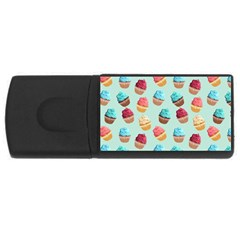 Cup Cakes Party Usb Flash Drive Rectangular (4 Gb)
