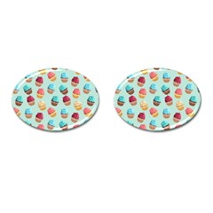 Cup Cakes Party Cufflinks (oval)