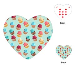 Cup Cakes Party Playing Cards (heart)
