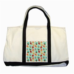 Cup Cakes Party Two Tone Tote Bag