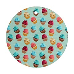 Cup Cakes Party Round Ornament (two Sides)