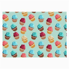 Cup Cakes Party Large Glasses Cloth