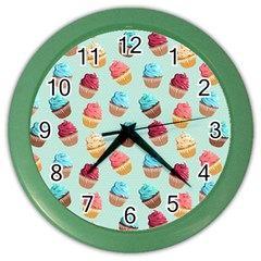 Cup Cakes Party Color Wall Clocks