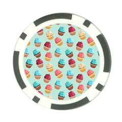 Cup Cakes Party Poker Chip Card Guard