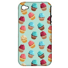 Cup Cakes Party Apple iPhone 4/4S Hardshell Case (PC+Silicone)