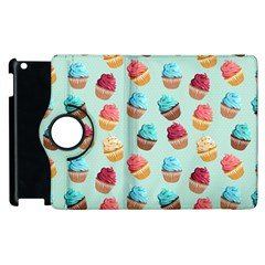 Cup Cakes Party Apple iPad 3/4 Flip 360 Case
