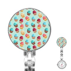 Cup Cakes Party Stainless Steel Nurses Watch