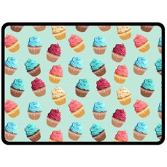 Cup Cakes Party Double Sided Fleece Blanket (Large)