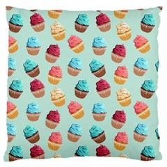 Cup Cakes Party Large Flano Cushion Case (Two Sides)