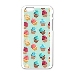 Cup Cakes Party Apple iPhone 6/6S White Enamel Case