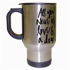 Dog person Travel Mug (Silver Gray)