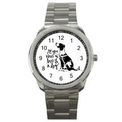 Dog person Sport Metal Watch