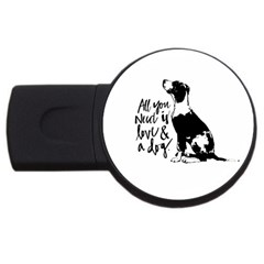 Dog person USB Flash Drive Round (4 GB)