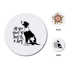 Dog person Playing Cards (Round)