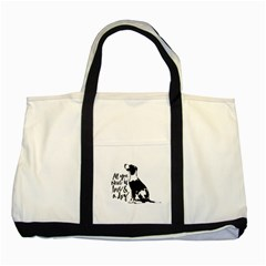 Dog person Two Tone Tote Bag