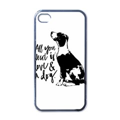 Dog person Apple iPhone 4 Case (Black)