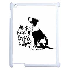 Dog person Apple iPad 2 Case (White)