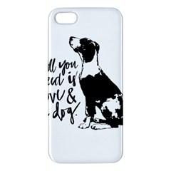 Dog person iPhone 5S/ SE Premium Hardshell Case