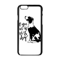 Dog person Apple iPhone 6/6S Black Enamel Case