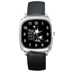 Dog person Square Metal Watch