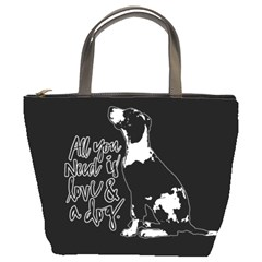 Dog person Bucket Bags