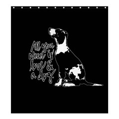 Dog person Shower Curtain 66  x 72  (Large)