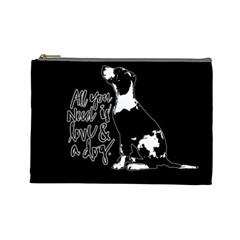 Dog person Cosmetic Bag (Large)