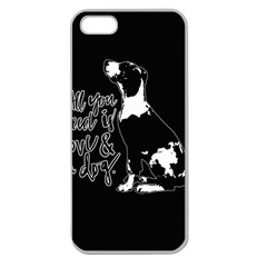 Dog person Apple Seamless iPhone 5 Case (Clear)