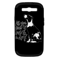 Dog person Samsung Galaxy S III Hardshell Case (PC+Silicone)