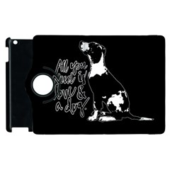 Dog person Apple iPad 2 Flip 360 Case