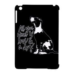 Dog person Apple iPad Mini Hardshell Case (Compatible with Smart Cover)