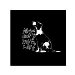 Dog person Small Satin Scarf (Square)