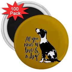 Dog person 3  Magnets (100 pack)