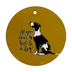Dog person Round Ornament (Two Sides)