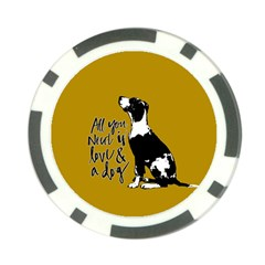 Dog person Poker Chip Card Guard (10 pack)