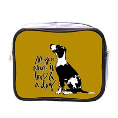 Dog person Mini Toiletries Bags