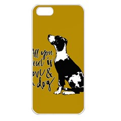 Dog person Apple iPhone 5 Seamless Case (White)