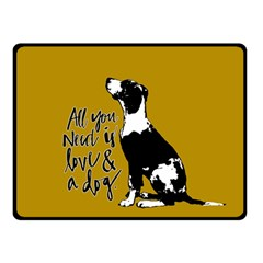 Dog person Double Sided Fleece Blanket (Small)