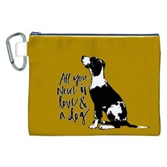 Dog person Canvas Cosmetic Bag (XXL)
