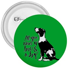 Dog person 3  Buttons