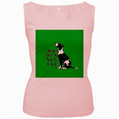 Dog person Women s Pink Tank Top