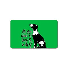Dog person Magnet (Name Card)
